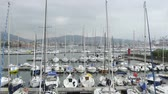 luksus : Recreational motor boats in yacht club of Spezia, European morning harbor view