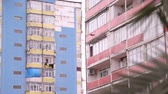 miasto : Dormitory building exterior, post soviet architecture, poverty and decay, Batumi Wideo
