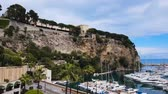 fontvieille : Stunning panorama of Port de Fontvieille with luxury white yachts in Monte Carlo