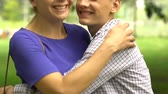 valores : Loving son hugging and kissing mother, happy family together, trustful relations