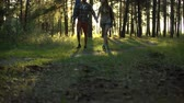даты : Couple walking and flirting with each other, holding hands, romantic date