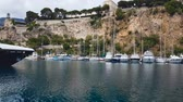 yachting : Boats and yachts in bay of Nice, water transport, summer tourism, riviera resort Stock Footage