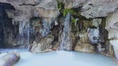 капля : Waterfall of Castle Hill in Nice park, nature in France, man-made sightseeing