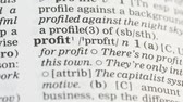 gramática : Profit, definition in english vocabulary, financial literacy, income planning