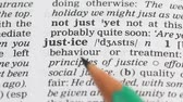 gramática : Justice definition in english dictionary, fair and lawful relations among people