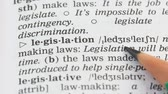 gramática : Legislation, english vocabulary page opened, laws making and obeying, politics