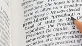gramática : President word definition in vocabulary, democratic republic leader, governor