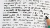 gramíneas : Inflation, pencil pointing word in english vocabulary, budget decreasing, debt