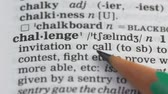 dilbilgisi : Challenge word in english vocabulary, checking personal qualities, leadership