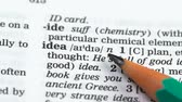 gramática : Idea word in english vocabulary, startup development, revolutionary discovery