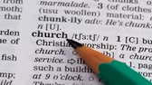 gramática : Church, pencil pointing definition, building and christianity faith institution