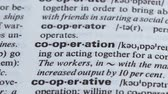 gramática : Cooperation, pencil pointing word in vocabulary process of teamwork togetherness Stock Footage