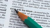 gramatika : Constitution word in english vocabulary main state principals granting democracy