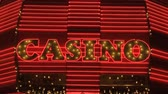 cassino : Las Vegas Casino Neon Sign Stock Footage