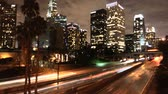 passagem elevada : Time Lapse of LA Downtown Buildings & Freeway  Los Angeles Vídeos