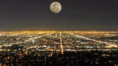 grade : Time Lapse of Moon Rising over Los Angeles