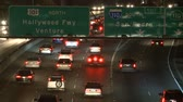 grade : Time Lapse of Traffic on the 101 Freeway at Night  Los Angeles