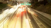 grade : Time Lapse of Streaking Traffic on the 101 Freeway at Night  Los Angeles
