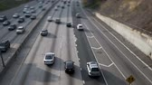 коммутирующих : Time Lapse of Traffic on the 101 Freeway Tilt Shifted  Los Angeles