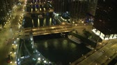 budowa : Chicago Overview at Night Wideo
