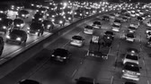 congestionamento : Traffic on the Busy Freeway at Night - Time Lapse Vídeos