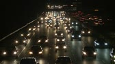 passagem elevada : Traffic on the Busy Freeway at Night Vídeos