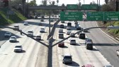congestionamento : Los Angeles Freeway Traffic - Time Lapse