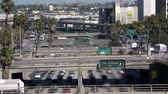 congestionamento : Heavy Downtown Traffic in Los Angeles - Time Lapse