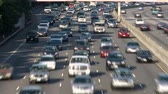 treibstoff : Los Angeles Traffic - Zeitraffer Stock Footage