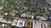 evler : Aerial View of Los Angeles Suburbs California Stok Video