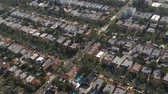 konut : Aerial View of Los Angeles Suburbs California Stok Video