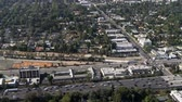 apartamentos : Aerial View of Los Angeles Freeway Suburbs California Stock Footage