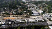 evler : Aerial View of Los Angeles Freeway Suburbs California Stok Video