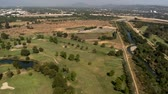 apartamentos : Aerial View of Golf Course Los Angeles Suburbs California Stock Footage