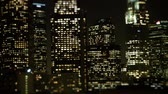 apartamentos : Tilt Shift - Downtown Los Angeles Skyline Stock Footage