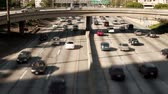 passagem elevada : Pan of Downtown Los Angeles Freeway - Time Lapse