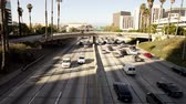 passagem elevada : Downtown Los Angeles Freeway - Time Lapse