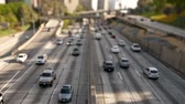 passagem elevada : Downtown Los Angeles Freeway Tilt Shift