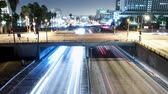 passagem elevada : Downtown Los Angeles Traffic - Time Lapse - Zoom