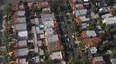 Vista aérea de los suburbios de Los Angeles California