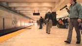 пассажир : Time Lapse of the San Francisco Subway  Bart Station Стоковые видеозаписи