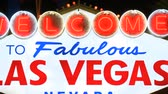 cassino : Welcome to Las Vegas Neon Sign Stock Footage