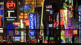 cassino : Time Lapse of the Las Vegas Strip Neon Stock Footage