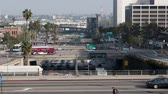 congestionamento : Time Lapse of Overpass on the 101 Freeway in Downtown Los Angeles