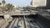 congestionamento : Heavy Traffic on Overpass on the 101 Freeway in Downtown Los Angeles