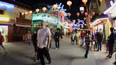 sklep : People in China Town Downtown Los Angeles at Night - Circa Aug 2012 Wideo