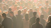 escuro : Crowd at Rock Concert Stock Footage