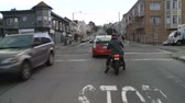 mounted : Driving the Streets of San Francisco - Time Lapse Stock Footage