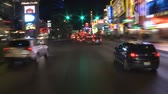 mounted : Time Lapse of Driving Down the Las Vegas Strip at Night Stock Footage