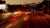 pendulares : Time Lapse of Los Angeles Freeway Traffic